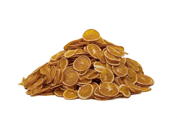 Dehydrated orange wheels