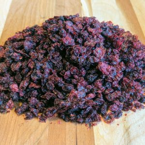 Dehydrated red currants